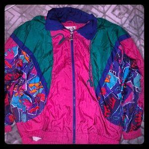 Like New 90's Themed Women's Jacket/ Windbreaker